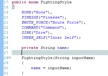 Fighting Styles Code