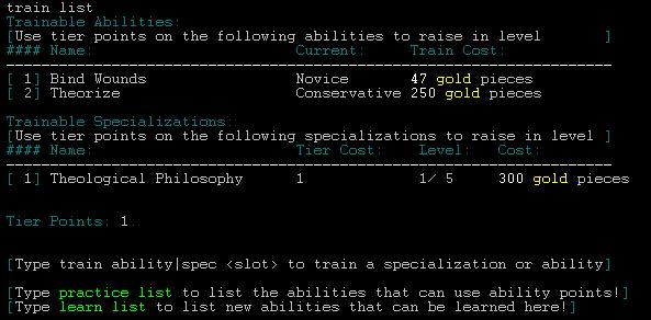Training Abilities