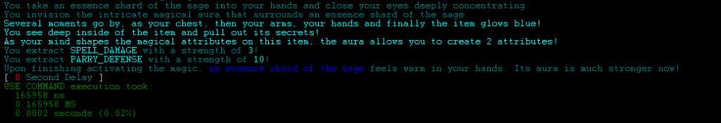 Using Detect Magic to unlock a Magical Item.