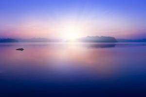 Dawn on the Kumarakanda Lagoon, Sri Lanka